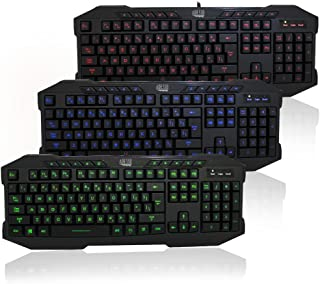 Adesso AKB-135EB - EasyTouch 135 3-Color Illuminated Gaming Keyboard