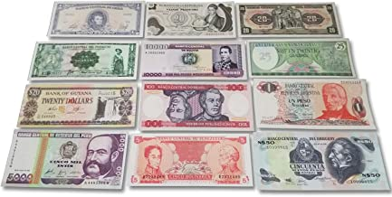 World Banknotes Collection - 12 Latin American Banknotes - Foreign, Currency, Uncirculated