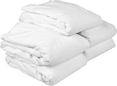 Just Hospitality Value Pack of 5 White Matt. Protectors, Terry Laminated 4 Star Quality, 200 GSM (Poly.Ctn. Water Resistant Coated), Size 78 * 60 * 12 inchs
