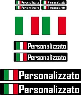 Adesivi Personalizzati Moto Bici con Bandiera - Vinile lucido HD Made in Italy