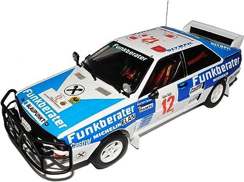 Sun Star Audi Quattro A2 Nr 12 Wittmann Diekmann Rally Safari 1984 1 18 Modell Auto mit individiuellem Wunschkennzeichen