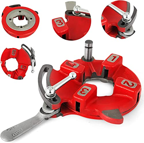 lowest Mophorn 811A Universal Self Open Dies Head Fit for Ridgid 1/8-2inch 97075 NPT 300 535 online Pipe Threader Self Quick Open Right-Handed 300C 500 Carriage online sale Cutter sale