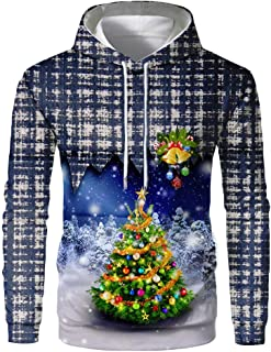Men's Christmas Fun Ugly 3D Print Long Sleeve Christmas Sweatshirt Hoodie Top