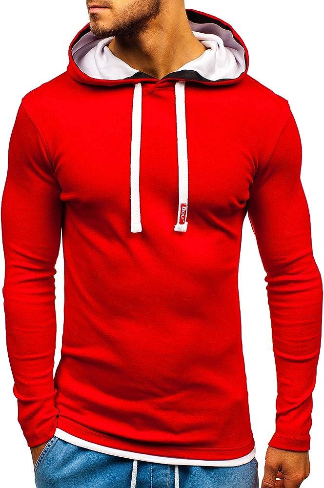 Bolf,felpa con cappuccio per uomo,65% cotone, 35% poliestere RED FIREBALL HY202