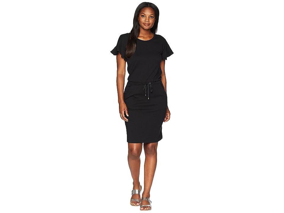 LAUREN Ralph Lauren French Terry Flounce Dress (Polo Black) Women