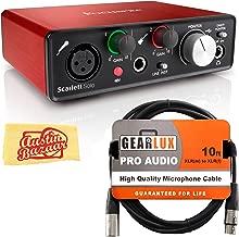 Focusrite Scarlett Solo USB Audio Interface Bundle with XLR Cable and Austin Bazaar Polishing Cloth