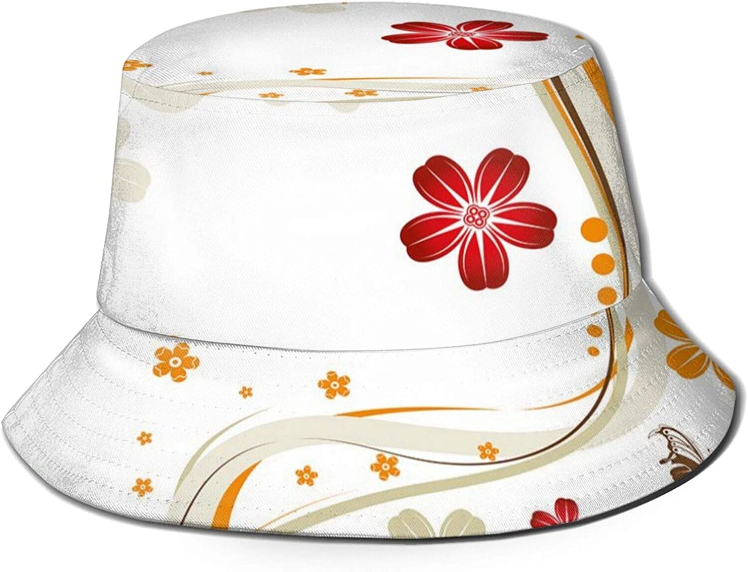 Packable Reversible Black Printed 2021 autumn and winter new Fisherman S favorite Bucket Sun Hat
