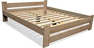 Best For You - Cama Doble de futón para Personas Mayores de Madera 100% Natural con cabecero y somier, Muchos tamaños