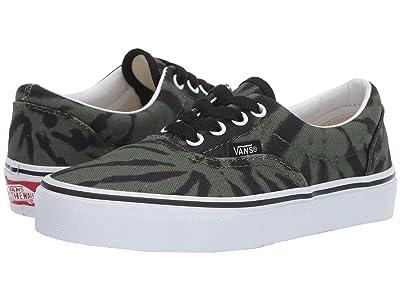 Vans Kids Era (Little Kid/Big Kid) ((Tie Dye) Garden Green/True White) Boys Shoes