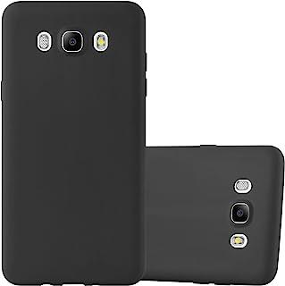 Cadorabo Funda para Samsung Galaxy J5 2016 en Candy Negro – Cubierta Proteccíon de Silicona TPU Delgada e Flexible con Antichoque – Gel Case Cover Carcasa Ligera