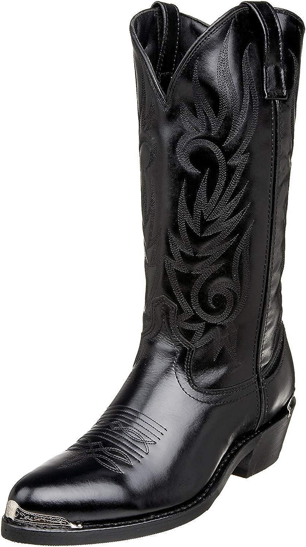 Laredo Mens McComb Round Daily bargain sale Toe Western Calf Boots Cowboy latest Mid Bla -