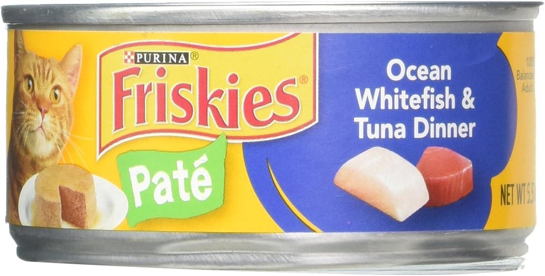 Friskies Ocean Whitefish & Tuna Dinner Cat Food 5.5 oz (Pack of 24)