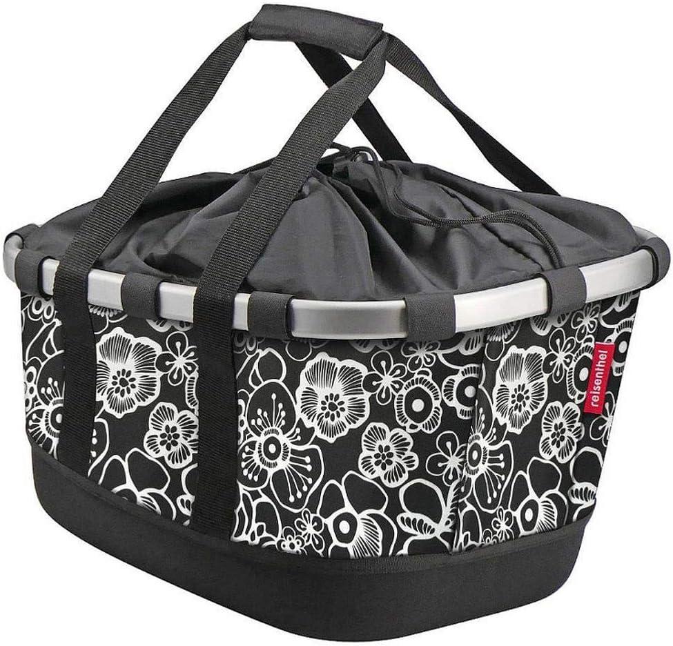 KLICKfix Unisex – Super sale Adults' Bikebasket Basket Black Bicycle Max 87% OFF Fleur