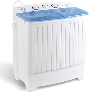 Giantex Portable Mini Compact Twin Tub Washing Machine 17.6lbs Washer Spain Spinner Portable Washing Machine, Blue+ White KUPPET Compact Twin Tub Portable Mini Washing Machine 26lbs Capacity, Washer(18lbs)&Spiner(8lbs)/Built-in Drain Pump/Semi-Automatic (White&Blue) The Laundry Alternative Wonderwash Retro Colors Non-electric Portable Compact Mini Washing Machine (Blue) SUPER DEAL Portable Compact Washing Machine, Mini Twin Tub Washing Machine w/Washer&Spinner, Gravity Drain Pump and Drain Hose SUPER DEAL 2IN1 Mini Compact Twin Tub Washing Machine 17.6lbs Washer + Spinner Combo, with Timer Control, Drain Hose, Inlet Water Hose and Extra Long Cord