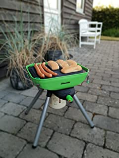 #0618 Kompakter Tischgrill aus rostfreiem Stahl mit robustem Transportkoffer • Camping K/üche Grill Zubeh/ör Gasgrill Zelten Grillen Outdoor Balkon