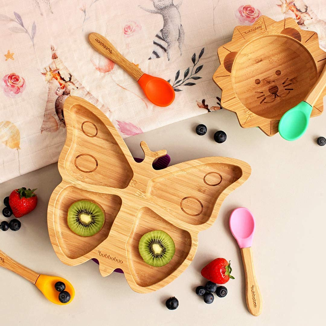 Bubbaboo Bamboo Butterfly Baby Toddler Suction Plate