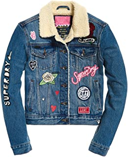 Womens SD Girlfriend Sherpa Jacket Street Style Indigo