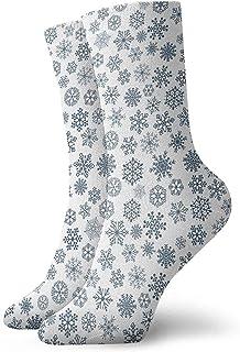 Bigtige, Copo de nieve azul 30cm Calcetines largos Algodón atlético Medias de ocio