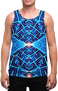 Cosmo | Mens | Tank Top | Spiritual | Aesthetic | Clothing | Tanks | Rave | Psychedelic | Festival | Meditation | Cosmic