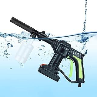 TTLIFE Pistola de lavado de alta presión 21V 2.0Ah 3.5L / min Lavadora de chorro a presión inalámbrica recargable con cepi...