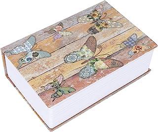 Secret Hidden Lock Box, Diversion Book Safe Money Hiding Box Collection Box with Key Lock, Unique Design Simulation Book S...