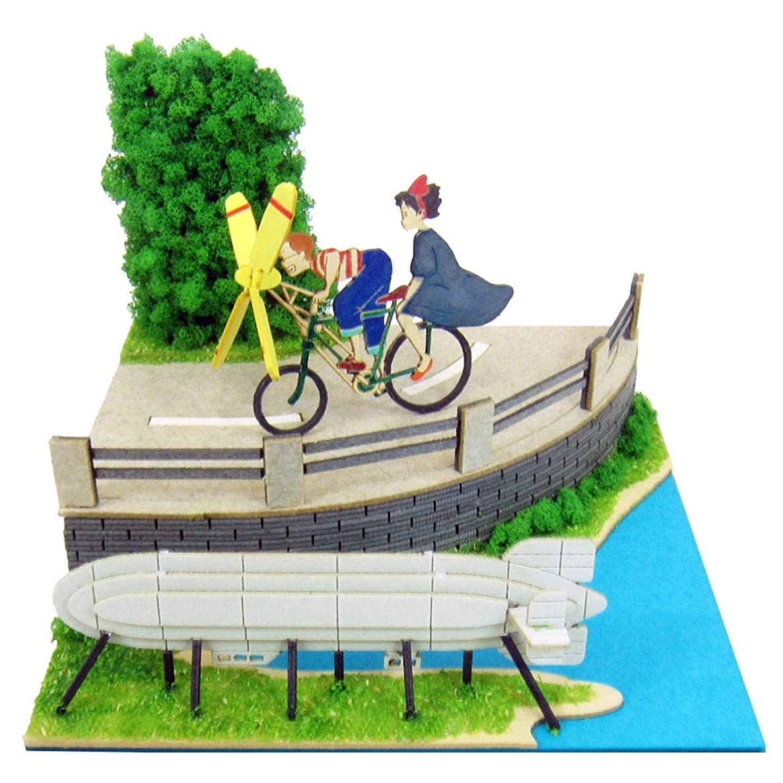 Kikis Delivery Service Ghibli Mini Studio Tombo with Propeller Bicycle Miniature Model Kit
