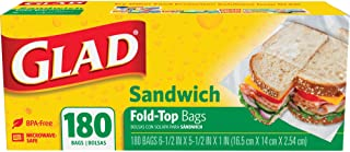 Glad Sandwich Fold-Top Food Bag, Clear