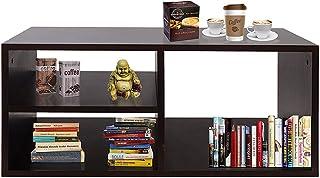 Klaxon Claus Engineered Wood Coffee Table/Centre Table, Tea Table (Black)