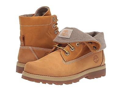 Timberland Kids Courma Roll Top Boot (Big Kid) (Wheat Nubuck) Kids Shoes