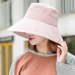 Ping BU Qing Yun Sombrero de Verano, Sombrero para el Sol Mujeres con protección UV Viaje de Playa Plegable con Borde Ancho, Flip Floppy, 5 Colores Opcionales Sombrero para el Sol (Color : Pink)