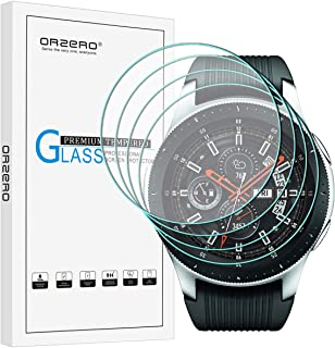 (4 Pack) Orzero for Samsung Galaxy Watch 2018 (for 46 mm) (Updated Version) Smartwatch Tempered Glass Screen Protector, 2....