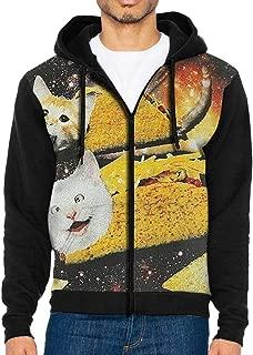 HEHE TAN Men Pullover Hood HotCat Zip Hoodies Hooded Popular Jackets Coats