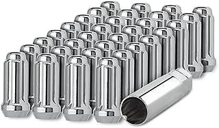 DPAccessories D5113-2305/32 32 Chrome 9/16-18 Closed End Duplex XL Spline Lug Nuts for Aftermarket Wheels Wheel Lug Nut