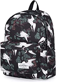 XIAO Large-capacity Backpack, Street Fashion, Backpack, Printing, Student Bag, Computer Bag, Sports Backpack Happy day (Color : Bronze)