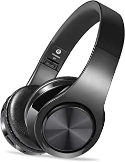 Wireless Headset with Mic, Foldable Bluetooth Headphone with 3.5mm Audio Jack, Built-in Noise Cancelling Microphone, Suppo... photo