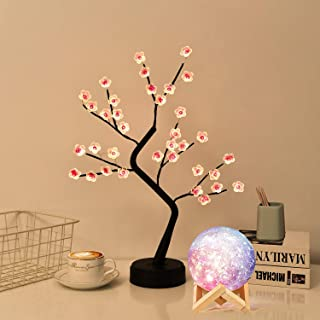 """Lixinju 20"""" Tree Lights Tabletop Fairy Lighted Trees for Decoration Inside Artificial Sparkly Firefly Cherry Blossom Bonsa..."""