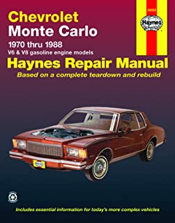 Chevrolet Monte Carlo (70-88) Haynes Repair Manual (Does not include information specific to diesel engines. Includes thorough vehicle coverage apart ... exclusion noted) (Haynes Repair Manuals)