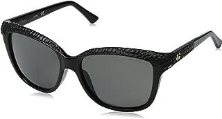 Guess Women's Fashion Sun GU 7401 01D Sunglasses, Grey, 56 mm