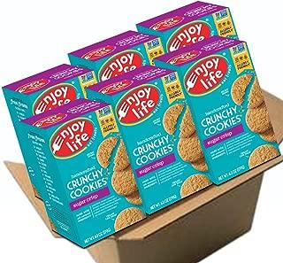 Enjoy Life Foods Foods Crunchy Cookies, Soy Free, Nut Free, Gluten Free, Dairy Free, Non GMO, Vegan, Sugar Crisp, 6 Boxes