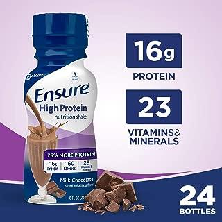 Asegure un batido nutricional de alto contenido proteico con 16 g de proteína de alta calidad, batidos de reemplazo de comidas listos para beber, bajo en grasa, chocolate con leche, 8 fl oz, 24 unidades