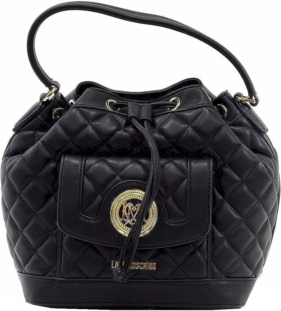 Love Moschino Women's Quilted Medium Leather Satchel Handbag