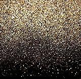 Yame 5'x7' Vinyl Navy Blue Gold Dots Photography Studio Backdrop Background