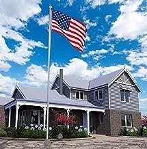 Super Tough 25ft Outdoor Flagpole - 4'x6' USA Valley Forge Flag (Satin)