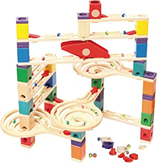 Hape Quadrilla Wooden Marble Run Construction - Vertigo - Quality Time Playing Together Wooden Safe Play - Smart Play for ...