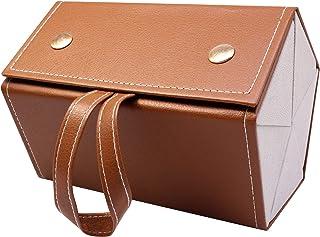 Caja de almacenamiento de cinco gafas de sol, caja de presentación plegable de 5 sockets pu