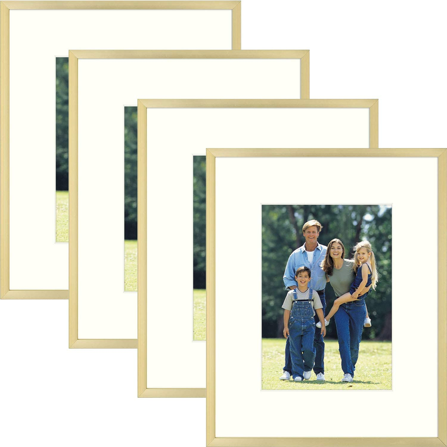 Golden State Columbus Mall Art Aluminum Picture Frame Pi Glass -8x10 and free Real