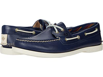 Sperry Authentic Original Plushwave Leather (Navy) Women