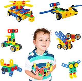 Litian STEM Learning Toys 101 Pieces Set, Building Blocks Creative DIY Engineering Construction Building Bricks Kids Educational Toy Set for Boys and Girls Ages 3+