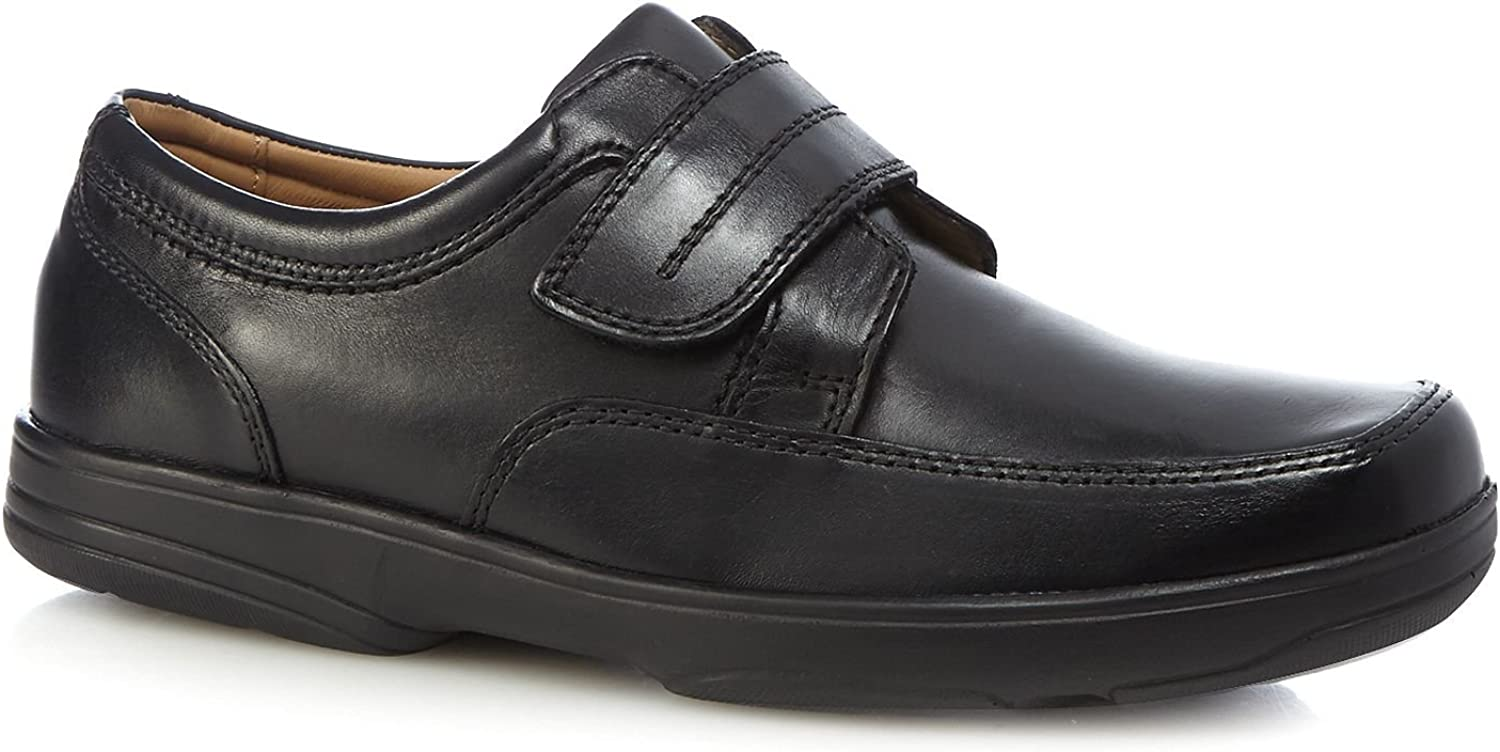 Henley Comfort Men Black Leather 'Windamere' Slip On shoes