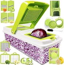Kithouse Vegetable Chopper Pro Onion Chopper Dicer Slicer Cutter Manual - Vegetable Spiralizer Mandoline Slicer Food Veggi...